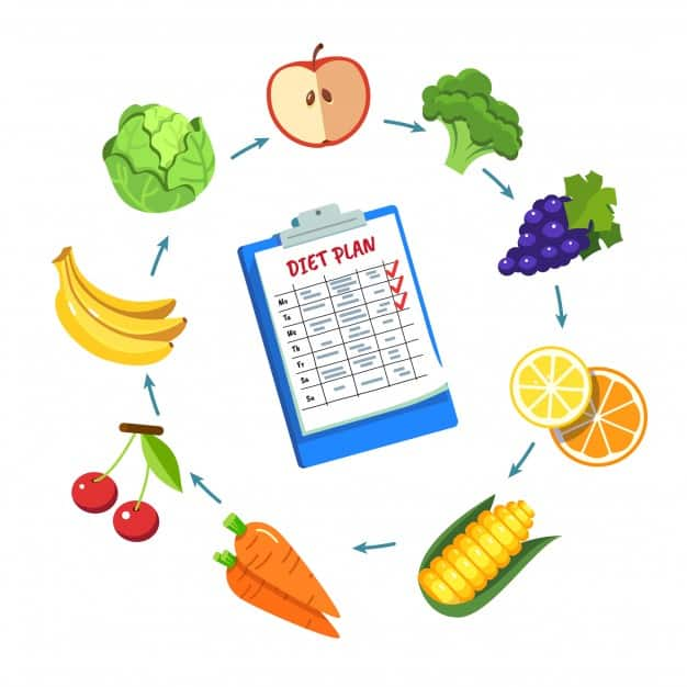 Following A Healthy Diet Plan To Lose Weight.