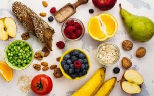 Eat a healthy diet to help lower blood pressure.