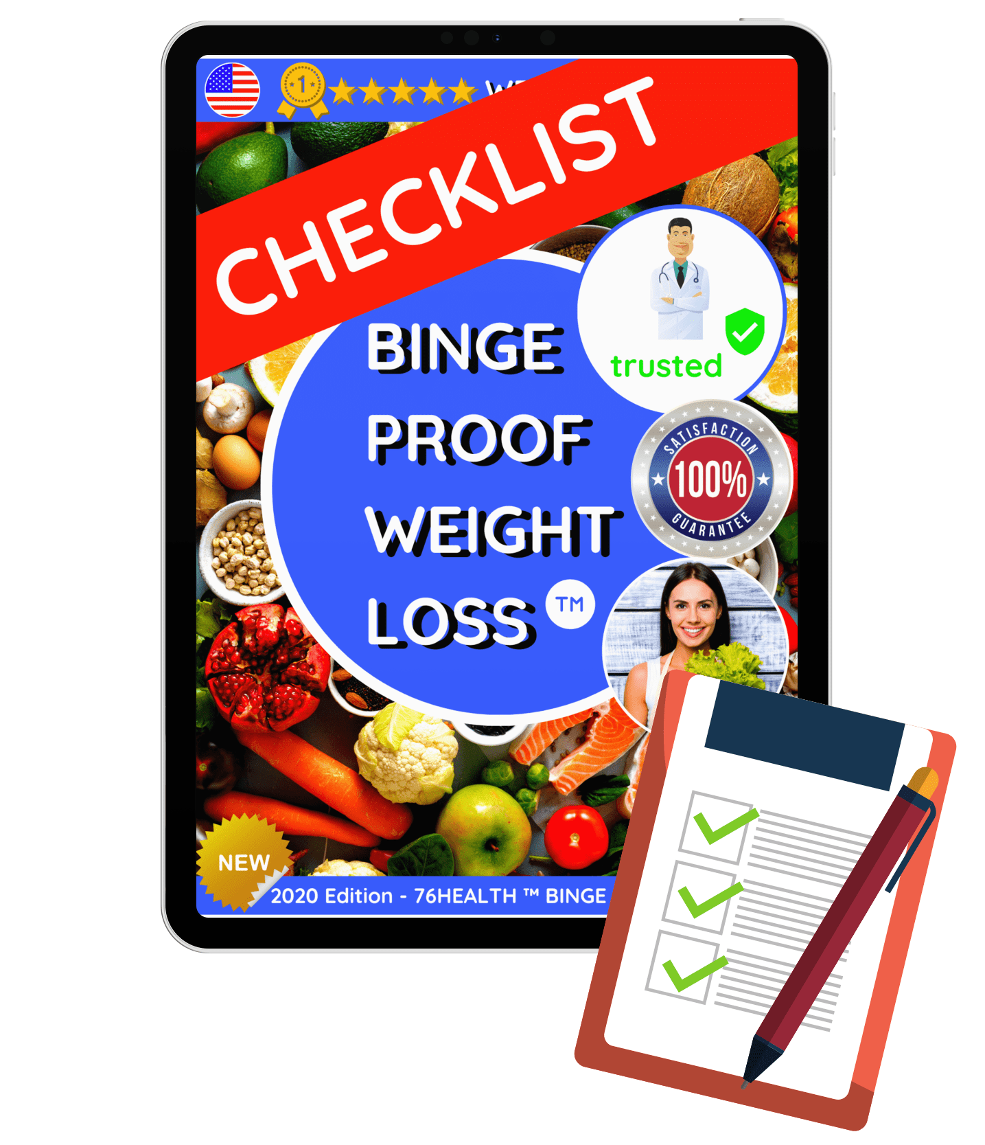 76HEALTH™ BINGE PROOF WEIGHT LOSS GUIDE – Edition 2020